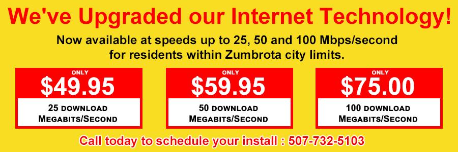 Upgraded Internet